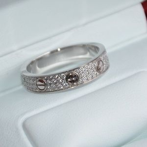 Cartier Love ring in white gold with diamonds